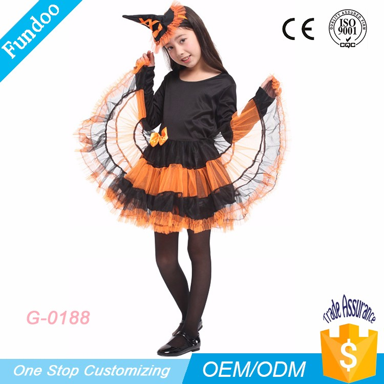 f65e695b9ac1 2017 Wholesale Kid Girl's Witch Costumes for Carnival Party Halloween  Costume