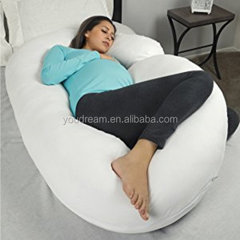 Pregnancy Pillow With Jersey Cover C Shaped Full Body Pillow Back