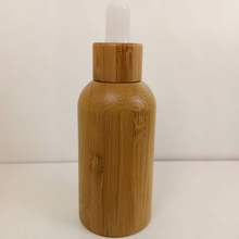 New products 30ml cosmetic bamboo glass dropper bottle for essential oil wholesale