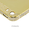 New arrival hot selling design 24kt gold plated with diamond around housing top black for iphone 5 5s back panel bezel
