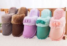 New Style Natural Cotton Slippers Women Men Home Winter Indoor Warm Slippers