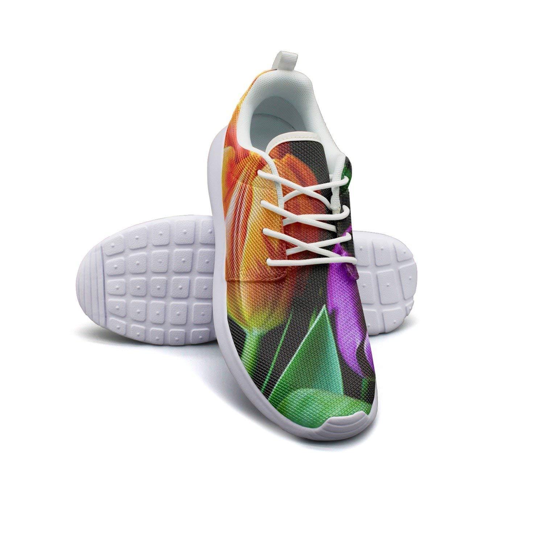 HJXJESSIE Woman Wonderful Flowers Running Shoes Jogging Runner Sports Sneakers