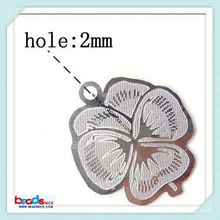 Beadsnice ID 2345 Stainless Steel Computer Beading Patch jewelry drop surgical steel flower pendant