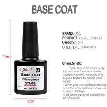 2 piece set GNl nail gel top coat base coat quick dry nail polish spray french