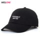 OEM hot sale metal buckle text embroidery logo curve brim custom twill cotton black dad hat 6 panel baseball caps manufacturers