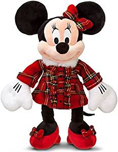 Disney Exclusive 18 Inch Deluxe 2011 Plush Holiday Plaid Minnie Mouse