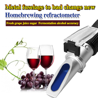 HT512ATC Wine refractometer grape juice saccharinity detection instrument sugar 0-40% alcohol 0-25%