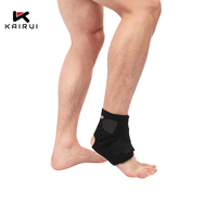 Adjustable ankle support compression straps wraps breathable ankle brace