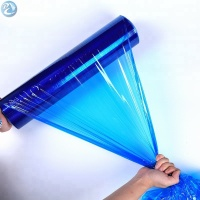Free Sample Colored Stretch Film Clear Surface PE Blue Protective Plastic Film for Windows glass mirrors