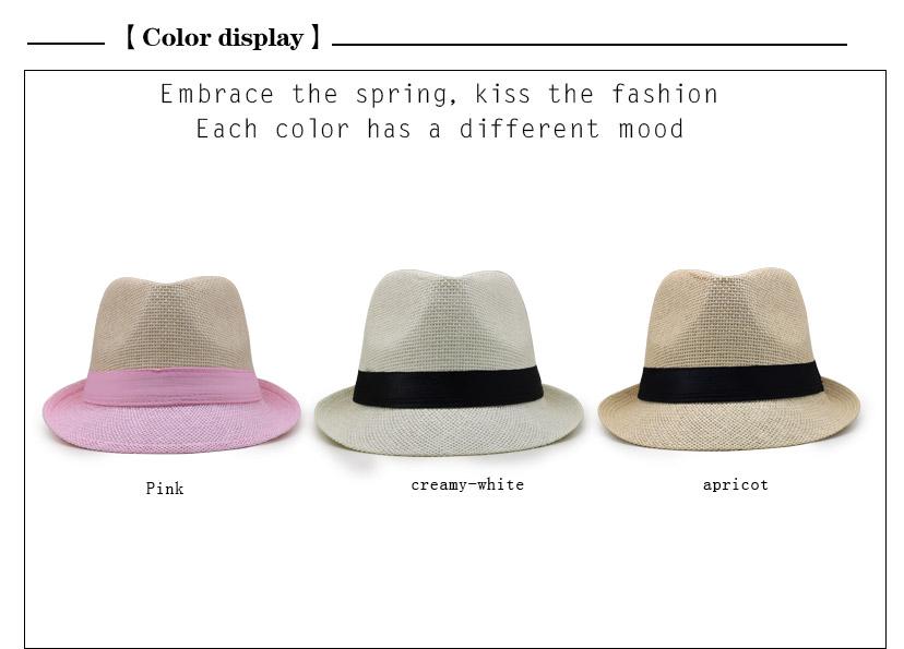 59b61cad 2018 different types of dresses women summer straw hat Men short brim summer  sun paper panama