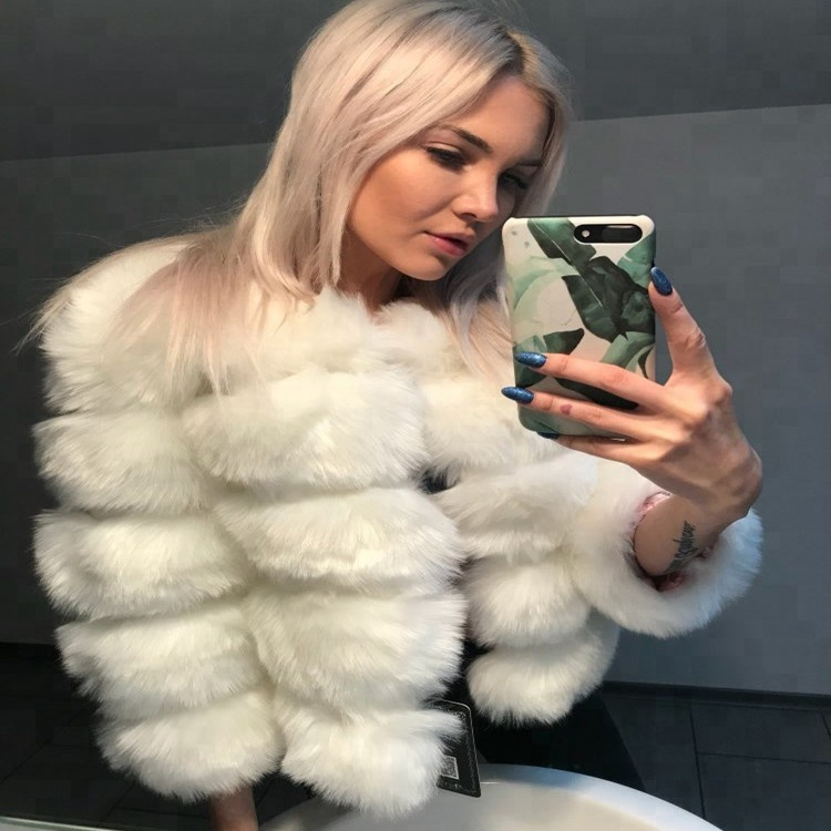 24bd84126f0 S-3XL Mink Coats Women 2018 Winter New Fashion Pink FAUX Fur Coat Elegant Thick  Warm Outerwear Fake Fur Jacket