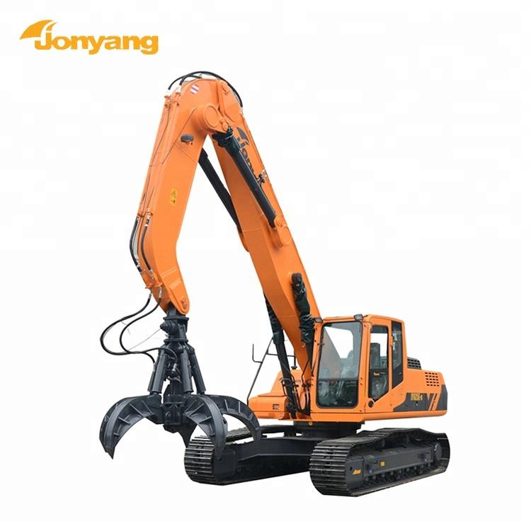 Heavy duty equipment excavator material handler