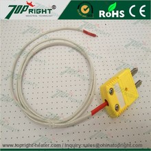 Omega K Type Thermocouple Wire Temperature Sensor With Connector