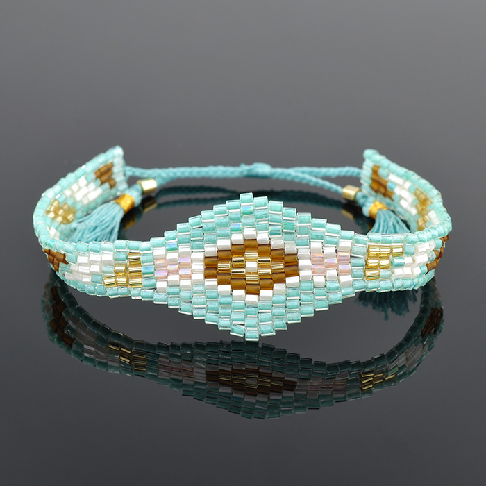 2018 Wholesale Fashion Designs Diy Woven Single Layer Miyuki Seed Beads Bracelet