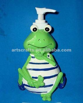 Polyresin rana di cartone animato dispenser di sapone buy