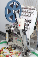 Single Head flat/cap mixed embroidery machine computer controlled embroidery machines with sequin/cording device for sale