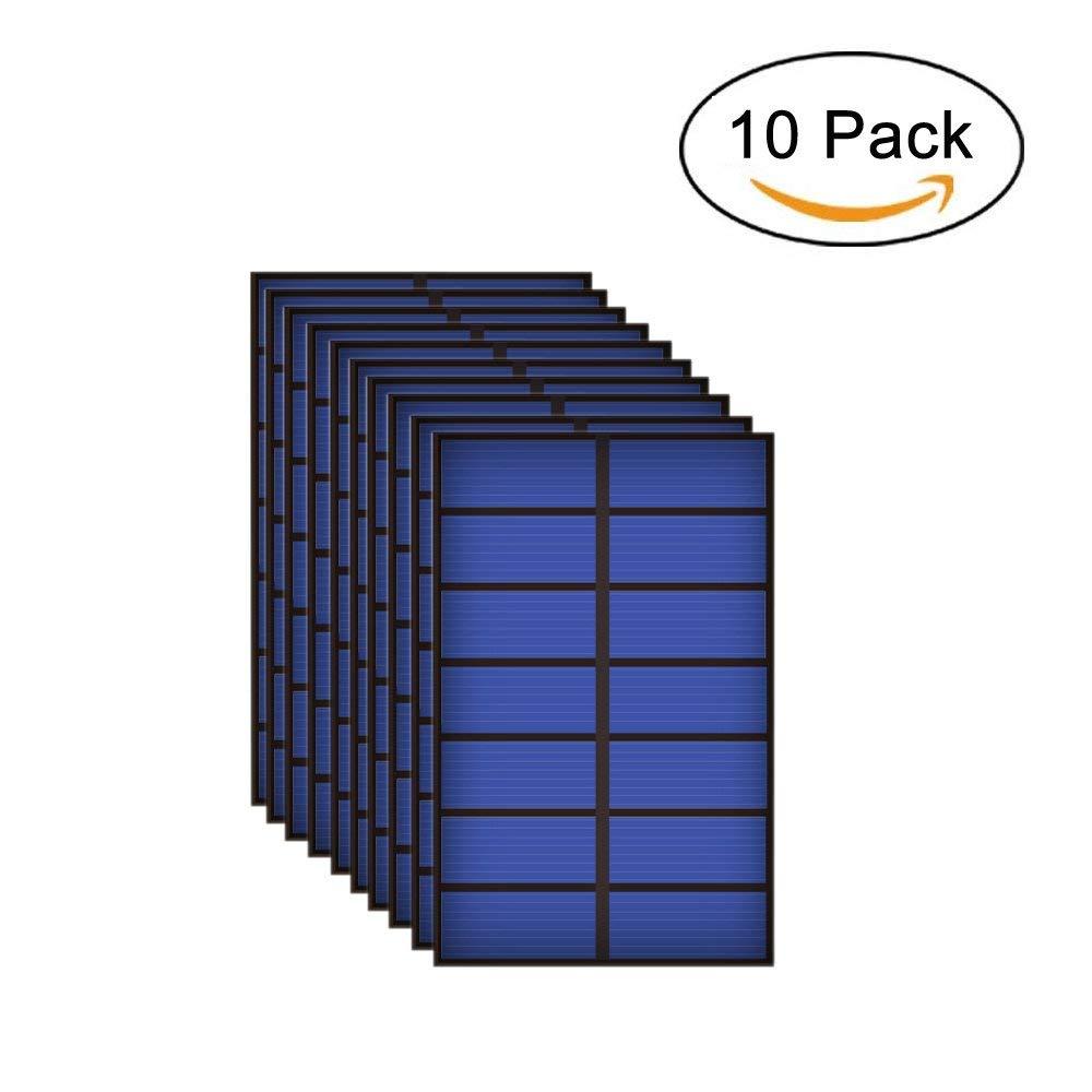 10PCS X 3.5V 250mA 0.9Watt Solar Panel Standard Epoxy Polycrystalline Silicon DIY Battery Power Charge Module Mini Solar Cell toy