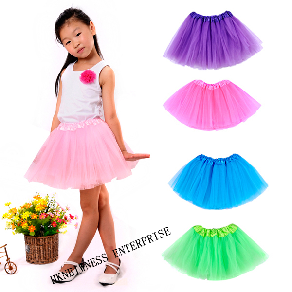 Cheap Wholesale Multicolor Fluffy Dancing Pettiskirt Baby Girl Mini Tutu Skirt