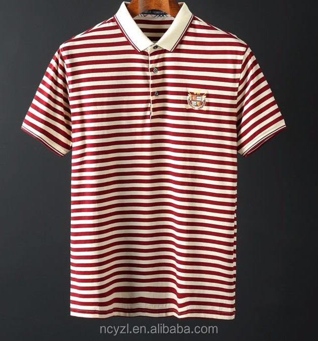 The Summer Men 39 S Short Sleeve Casual Polo Collar Striped T