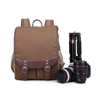 Wholesale Hot Sell Durable Canvas waterproof camera bag dslr Camera Backpack