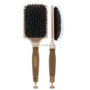 Best Price Silica Gel Non Slip Design Handle Wholesale Boar Bristle Paddle Hair Brush
