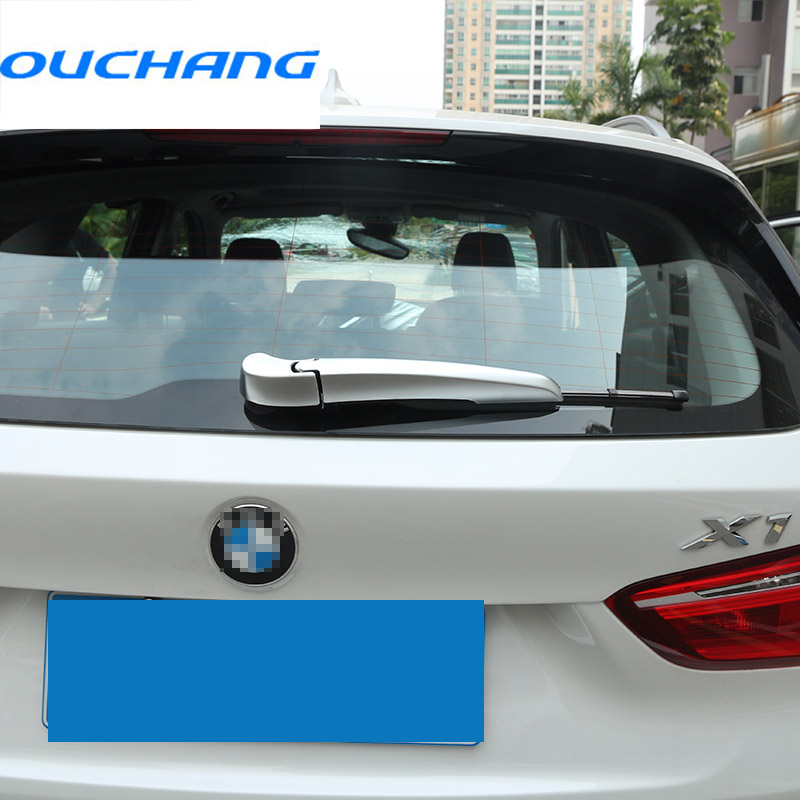 ABS Chrome Rear Window Wiper Blade Cover Trim For BMW X1 F48 2016 2017 Car-styling Accessories