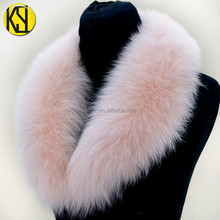 Factory Price OEM Service Detachable shawl Real dyed Fox Fur Collar For Coat / Jacket