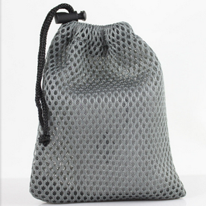 custom drawstring mesh pouch/Black small nylon mesh drawstring bag