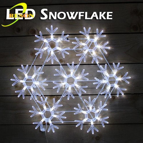 Led Christmas Lights Hanging Snowflake For Family Decoration