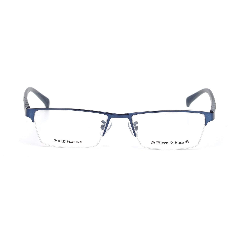 836d3a5b76 Get Quotations · New Classic Half Frame Non-prescription Glasses Clear Lens  for Women and Men
