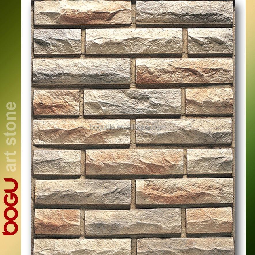 Front Elevation Wooden Tiles : بلاط الحائط الخارجي الحجر أسمنت اليدوية تقليد حجر