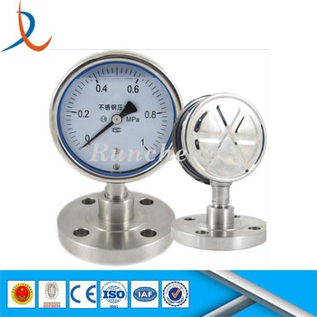 Shock-proof Steam Boiler Diaphragm Pressure Gauge / Process Gauges ...