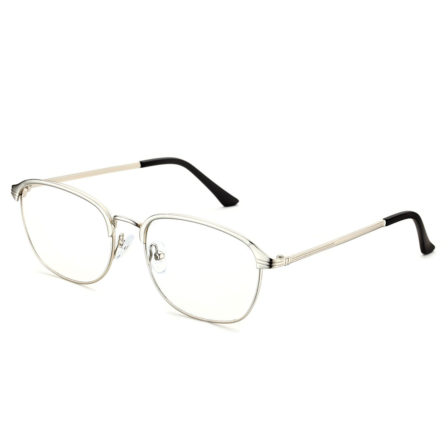02486c4f644 Get Quotations · PenSee Optical Rectangular Metal Square Eye Glasses  Eyewear Frames