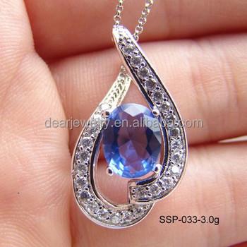 Cheap tanzanite cz pendants for women925 silver fashion blue color cheap tanzanite cz pendants for women 925 silver fashion blue color stone cz jewelry china aloadofball Image collections