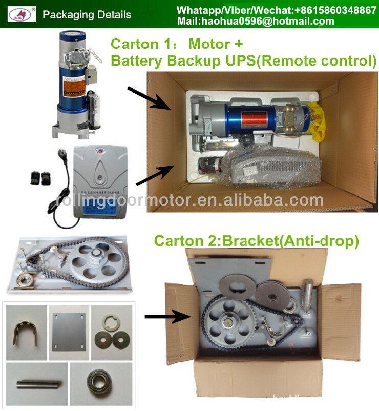 500kg Dc24v Automatic Rolling Shutter Side Mounting Motors