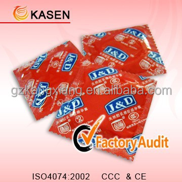 High quality custom brand condoms promotional condom
