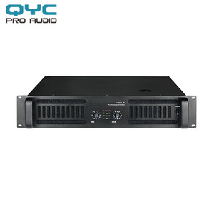 QYC High Fidelity Professional Analog Subwoofer Power Amplifier Bridged  1800 Watts at 8 ohms and 2 Channel