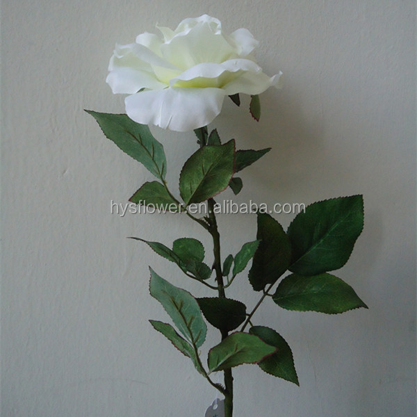 pure white big rose artificial flower ,real touch flower