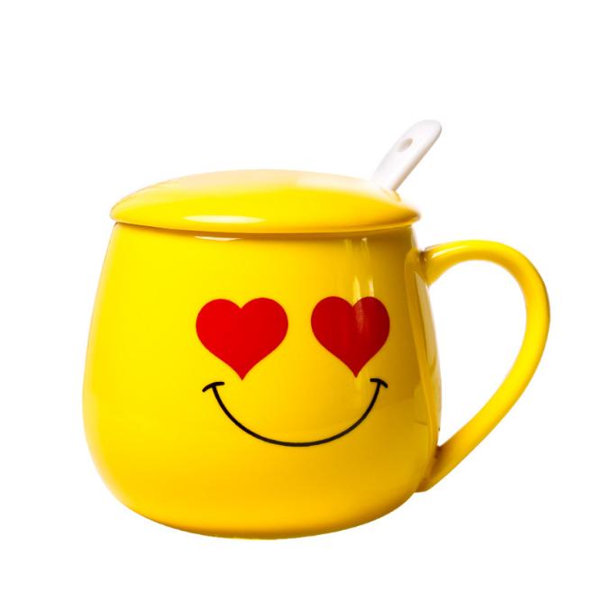 On Yellow Ceramic Cute Price Smiley Emoji Buy emoji Mug Product Mug Face Factory Coffee hrdxBsCtQ