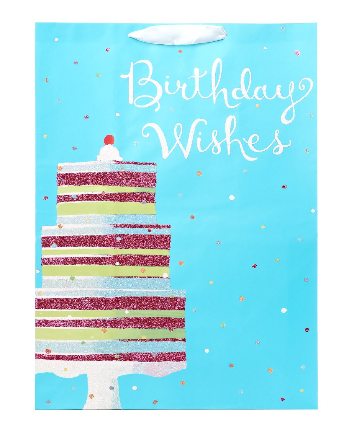 American Greetings Jumbo Gift Bag Birthday Wishes Cake 068981096269