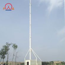 Trailer mobile communication base stations tower