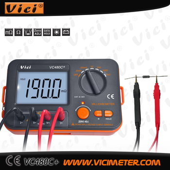 VC480C+ 1999 counts low resistance test digital ohm meter