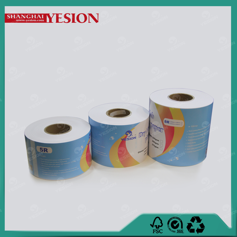 Yesion 2015 Hot! Professional Noritsu Frontier Pinter Dry Minilab Paper, Glossy/Satin Dry Minilab Photo Paper 260gsm