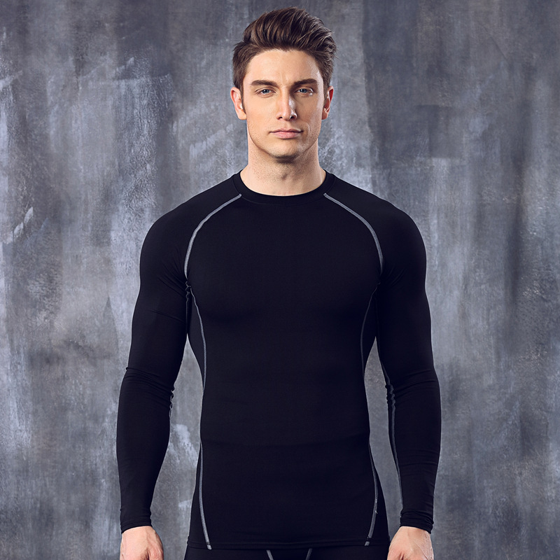 Men's 4 colour Athletic Slimming Compression Running Long Sleeve base layer Shirt Sale