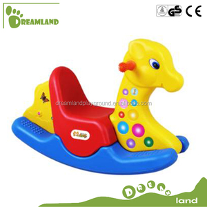 Tricolor deer /elephant/ cock/animal cartoon series for children rocking horse