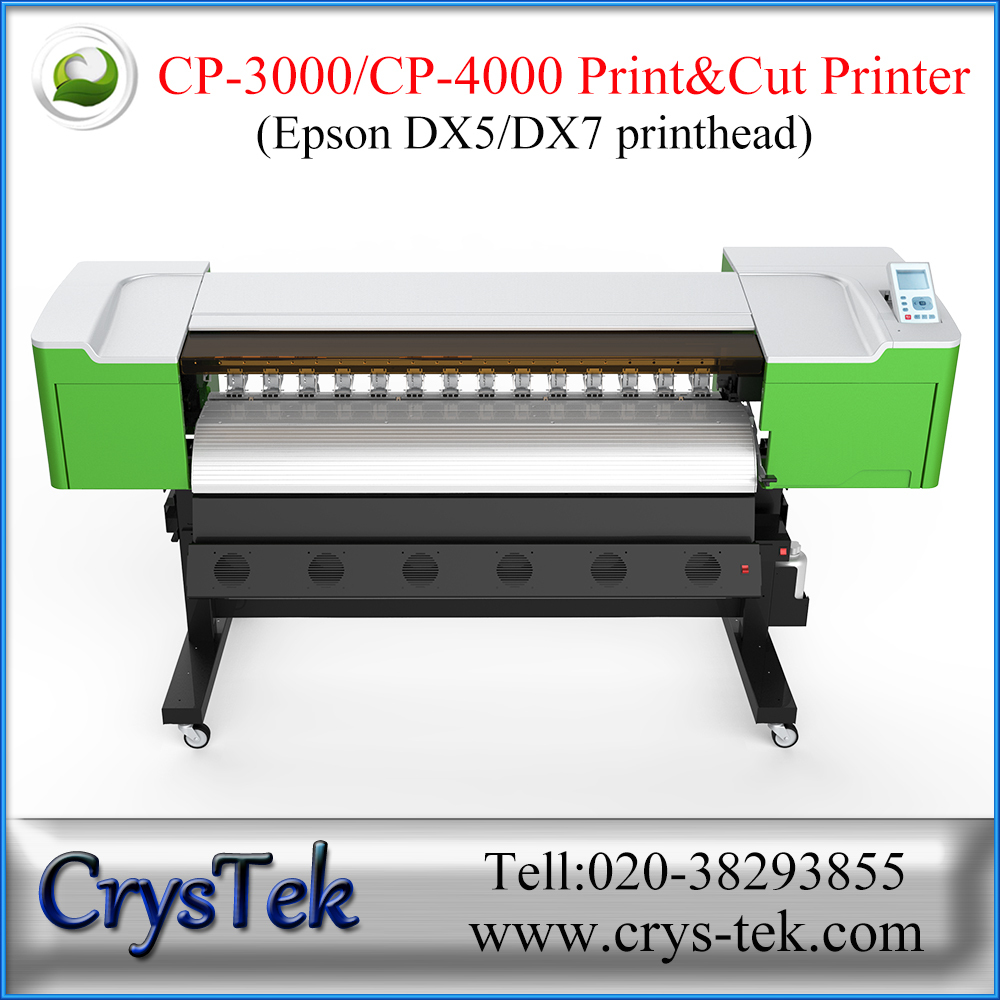 impresora eco solvente print and cut plotter from CrysTek
