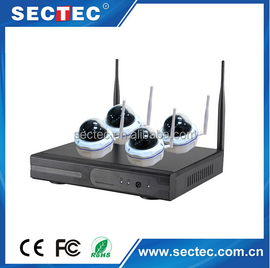 Dome CCTV Cameras WIFI NVR KIT for Home Security, Easy To Install, WIFI Conection, No Need Cable