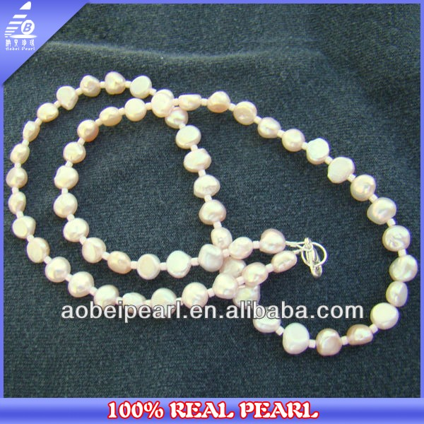 Wholesale AA Pink Natural Freshwater Pearl Beaded Choker Necklace