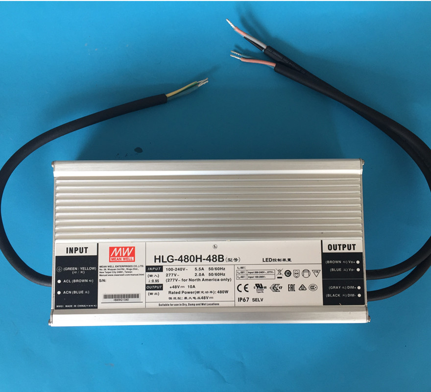 Original Meanwell LED driver H-L-G-480H-48B or AB