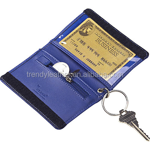 Keychain Leather Credit Card Holder